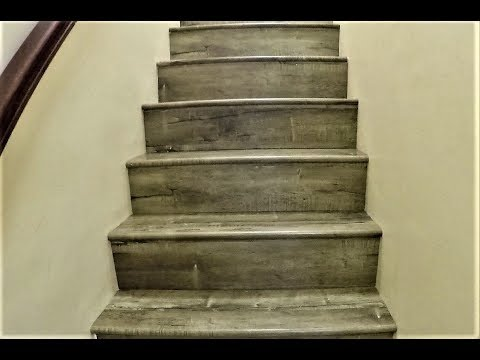 How to Laminate Stairs. Stair Noses. NO GAPS. Step by Step Installation. DIY. Shot with GoPro