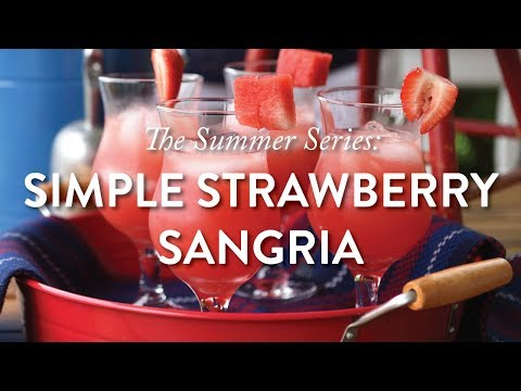 The Summer Series: Simple Strawberry Sangria