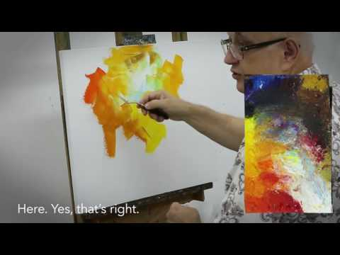 A Sample Video Lesson of Palette Knife oil painting by Leonid Afremov