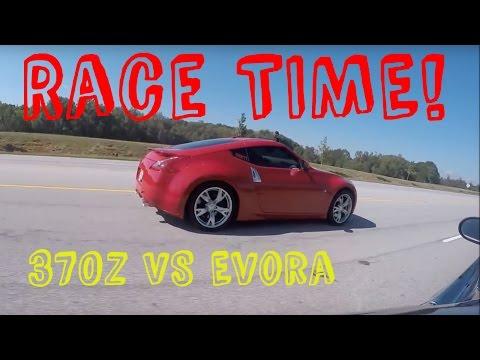 DRAG RACE: Nissan 370Z vs Lotus Evora (Manual)