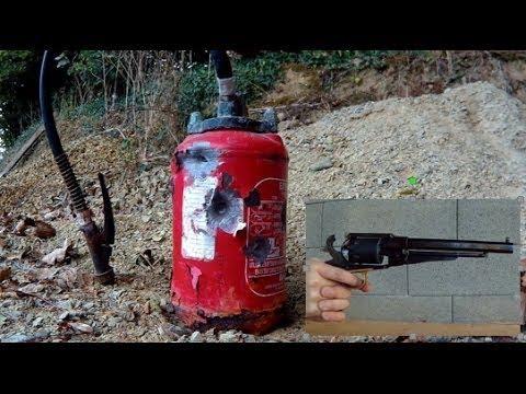 [TEST] TIR / SHOOT Remginton 1858 cal.44 - extincteur - PC penetration - 20 / 40 grains