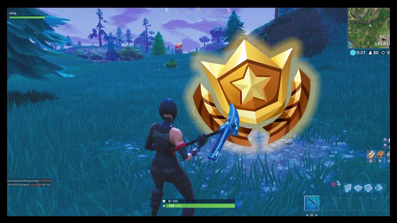 Fortnite: Search Between A PLAYGROUND, CAMPSITE, And A