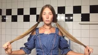 DIY lange Haare schneiden