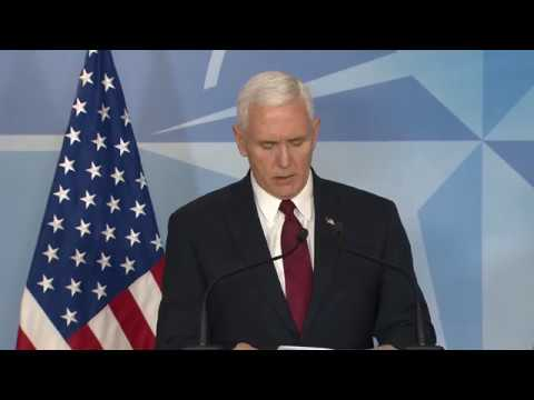 NATO Joint Press Point with Vice President Pence