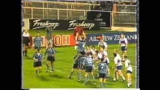 young Richie McCaw scores in a school 1st XV final