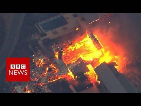 California wildfires: Blazes rip through wine valleys - BBC News