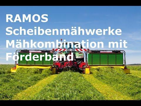 RAMOS Scheibenmähwerke Mähkombination mit Förderband