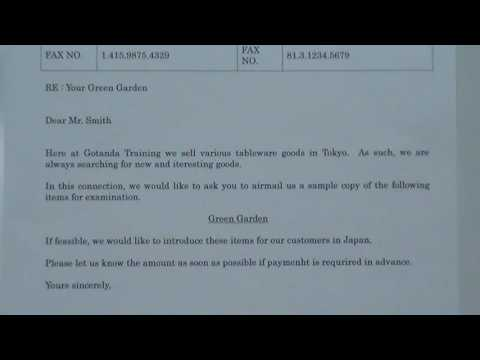 Simple English Business Letter