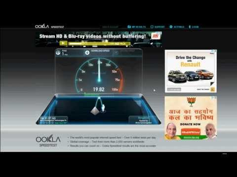 ACT Broadband Speed Test (India)