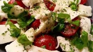Tomato Salad With Mozzarella, Basil And Tuna
