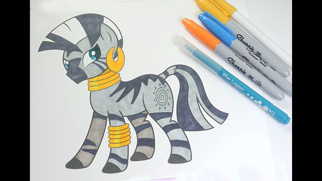 Zecora Coloring Book MLP Pages For Kids My Little Pony