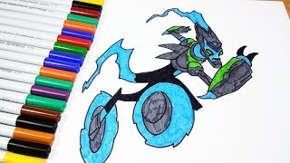 Coloring Pages Ben 10 Ultimate XLR8 UpgradeFour Arms Gwen Ben  - Coloring Videos Coloring Book 2019