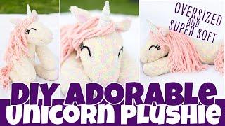 DIY Adorable Unicorn Plushie | Oversized and Soft | Fun Sock Creations