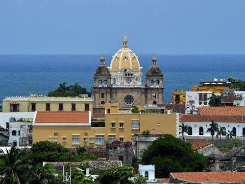 Cartagena Colombia pontos turisticos, imagens aéreas