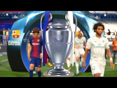 PES 2018 | UCL Final Real Madrid Vs. Barcelona | Legend Level Full Match