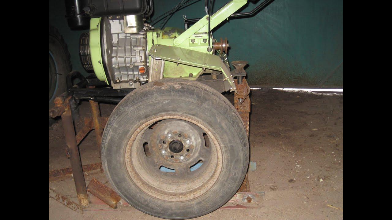 Широкие колеса Skiper 19x7-8 для мотоблока, культиватора - YouTube