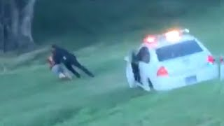 Epic Tackle Ends Police Chase