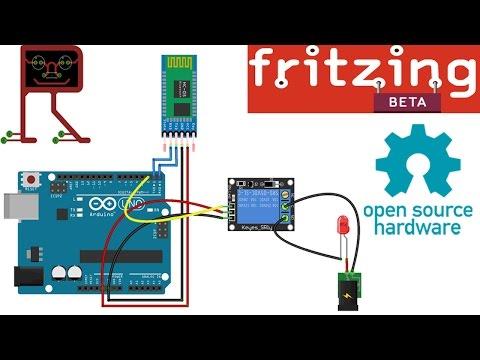 Rangkaian Relay dan Bluetooth HC 05