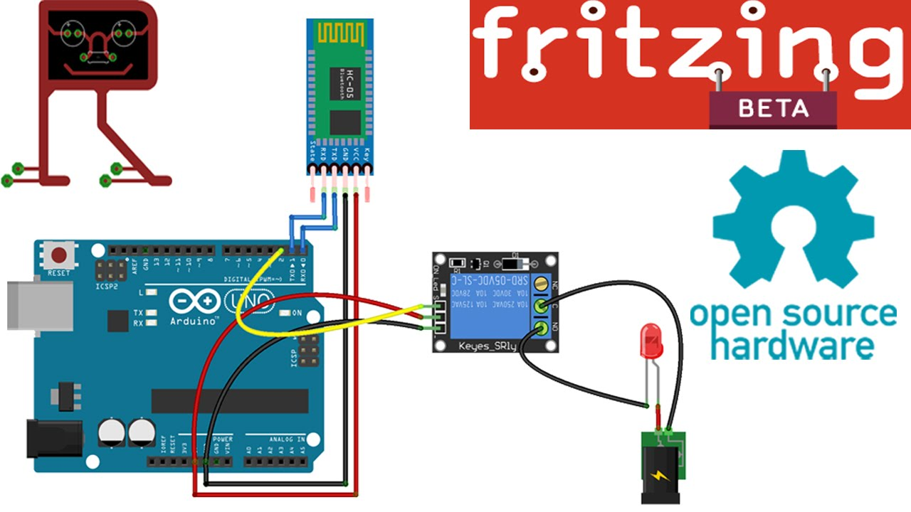 Fritzing 4 Channel Relay Library