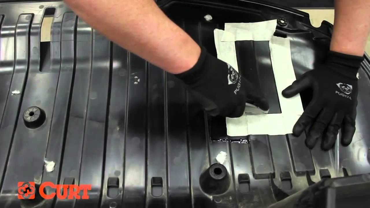 curt rear trailer hitch installation on honda cr v [ 1280 x 720 Pixel ]