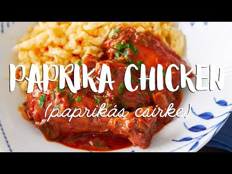Chicken Paprikash (Paprika Chicken)