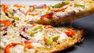 Potato Pan Pizza | Potato Crust Pizza | Homemade Pizza Recipe | No oven Pizza
