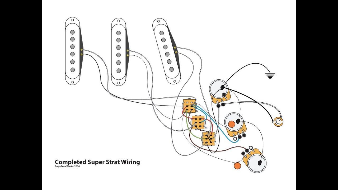 Super Strat Wiring With 1 Volume + 1 Tone