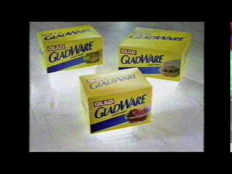 Gladware reusable containers featuring Diane Delano commercial from 1999