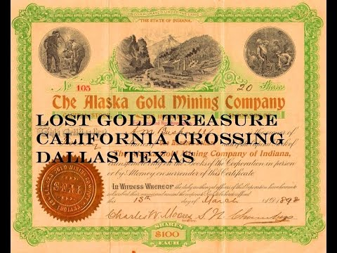 HUGE Lost Buried Gold Treasure California Crossing Dallas Texas!