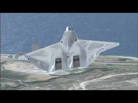 Flying the FSD YF 23 in FSX