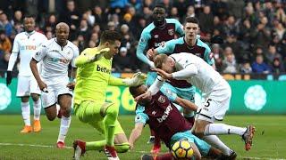 Video Gol Pertandingan Swansea City vs West Ham United