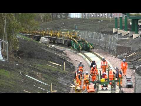 track laying at old Newtongrange station on the waverley line