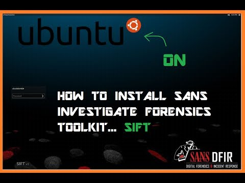 how to install SANS Forensics Toolkit
