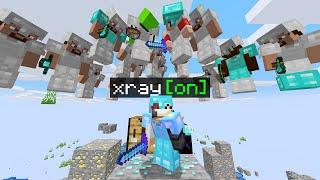 Minecraft Manhunt but I secretly used XRAY...