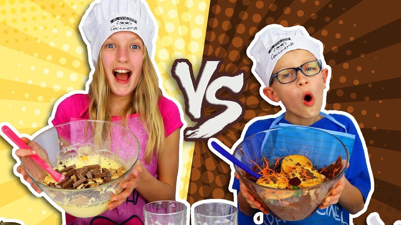 VANILLA vs. CHOCOLATE CAKE CHALLENGE! - clipzui.com
