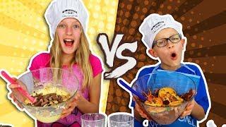 Download VANILLA vs. CHOCOLATE CAKE CHALLENGE! Mp3 and Videos