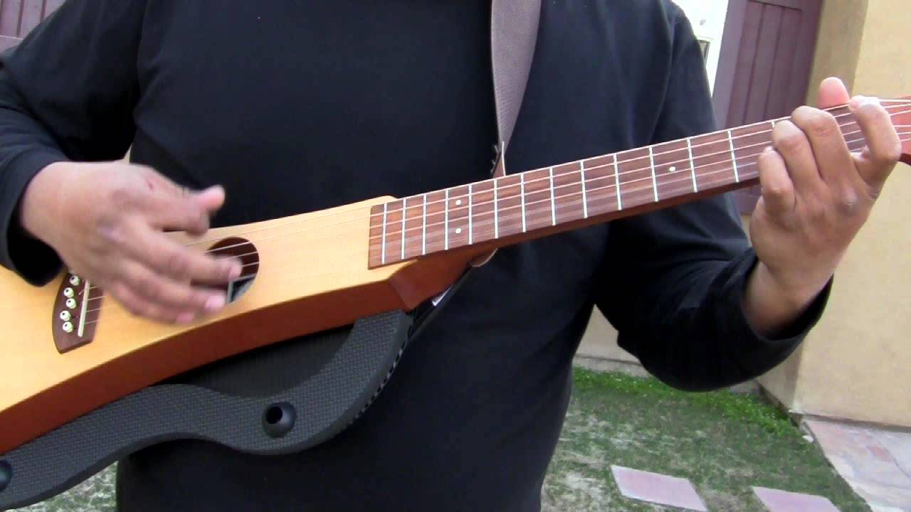 88d1289e985 Trying out the Martin Backpacker Travel Guitar - YouTube