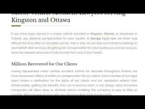 Auto Accident Lawyer Kingston - Barapp Personal Injury Lawyer