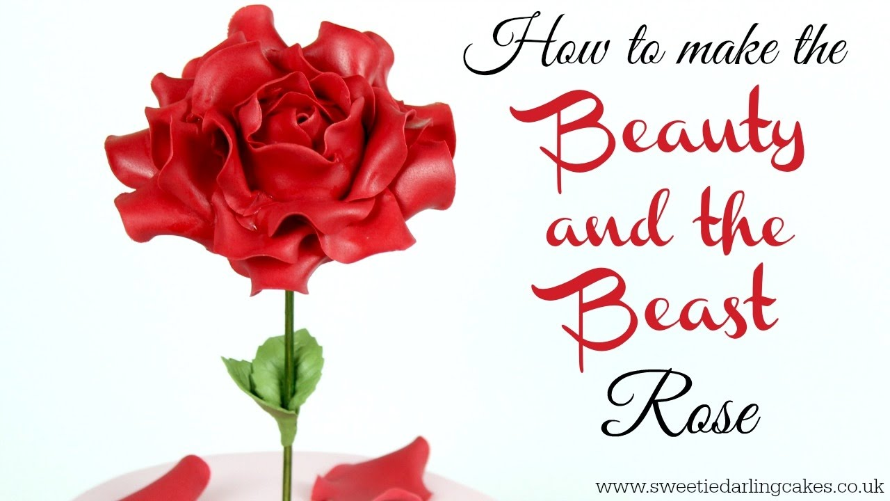 How To Make The Beauty And The Beast Rose Youtube
