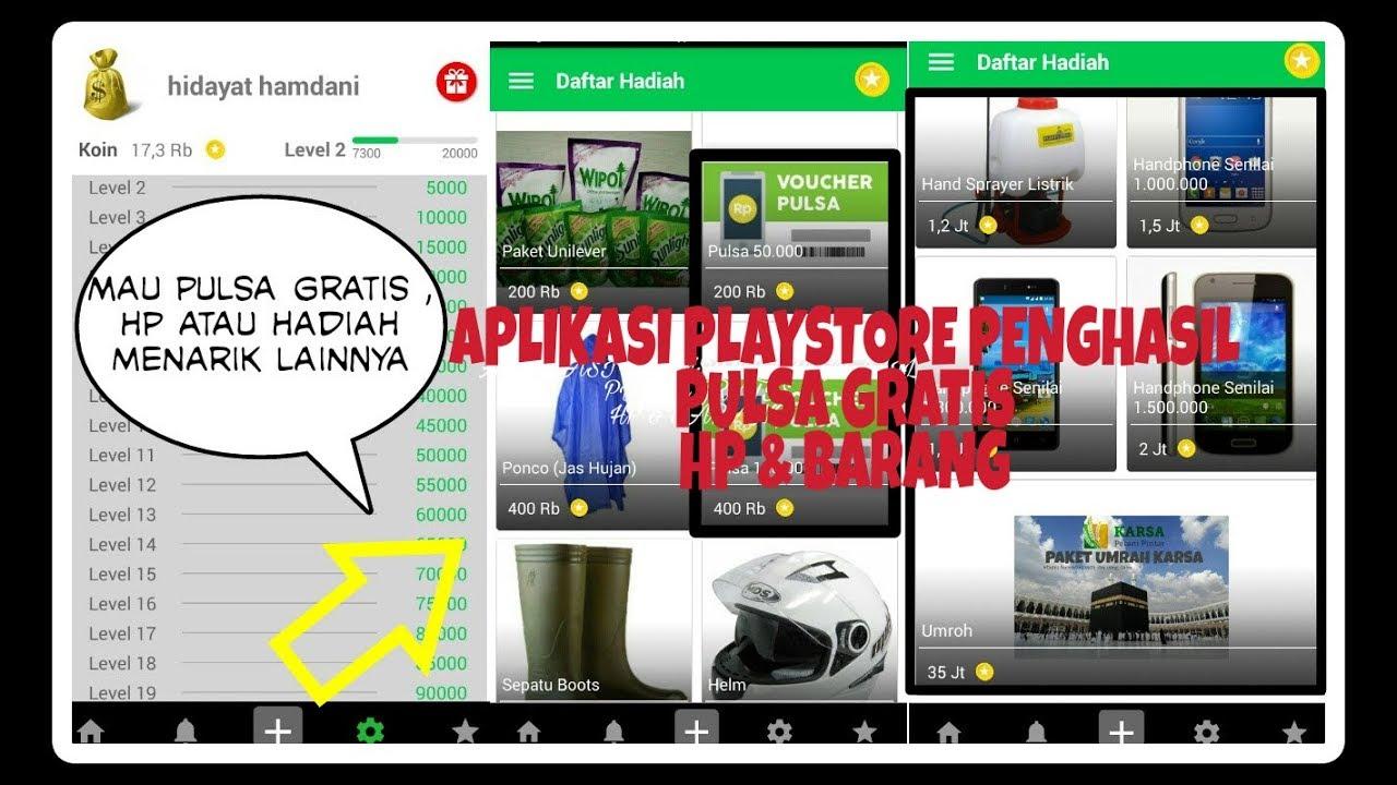 Aplikasi Android Penghasil Pulsa Gratis Hp Barang Terbaru 2018 By