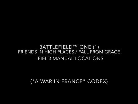 battlefield 1 codex entries and field manual locations