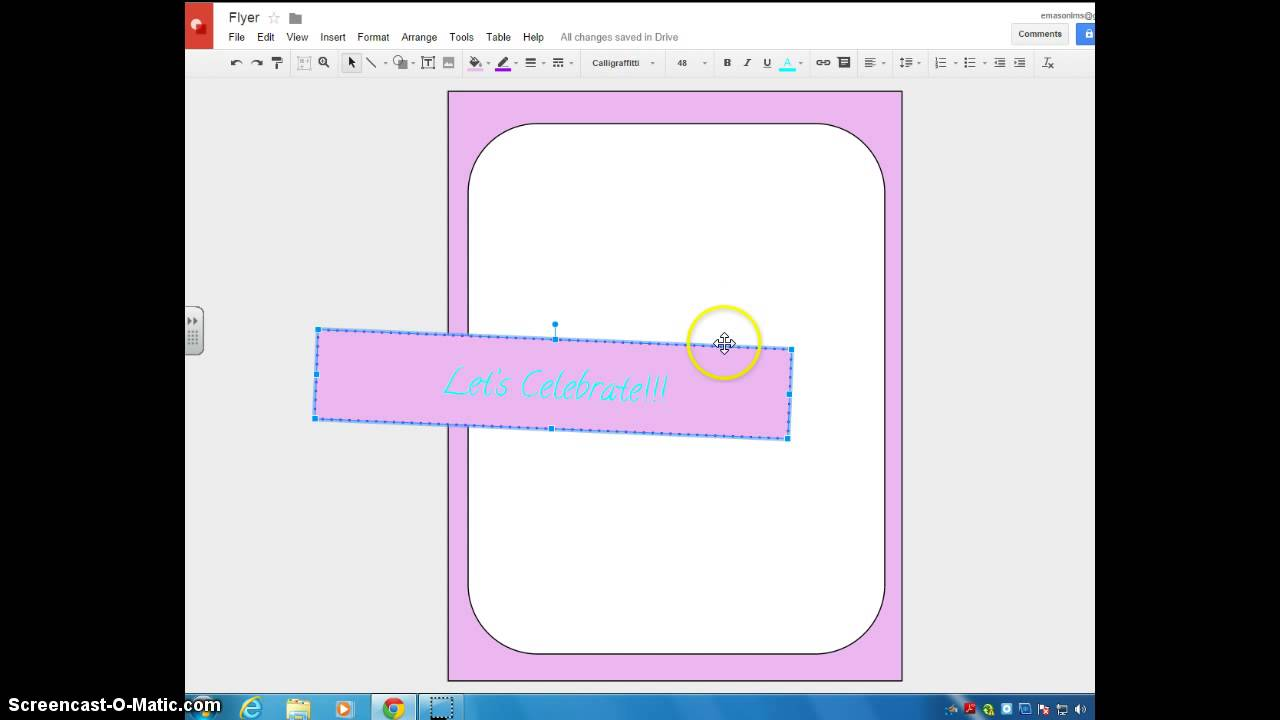 Google Drawing Flyer Tutorial YouTube - Make a flyer on google docs