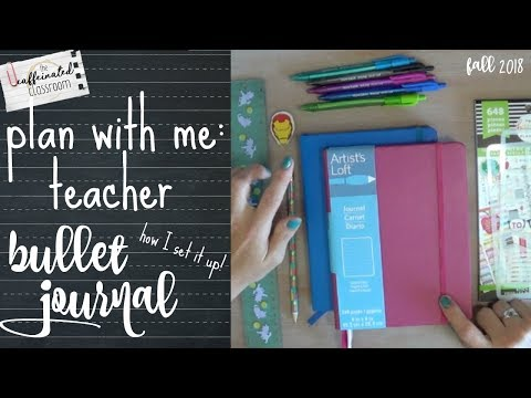 Teacher Lesson Plan Bullet Journal Set-up | Plan With Me 2018-19 | Cheap & Easy!