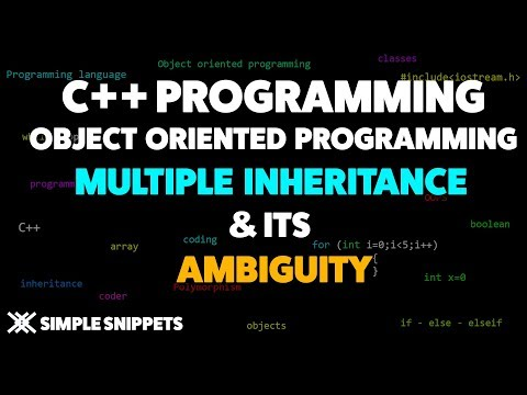 Multiple Inheritance In C++ With Ambiguity & Resolution | C++ Programming For Beginners