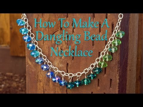 How To Make A Dangling Bead Necklace Jewelry Making Tutorial