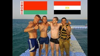 Jumping in Red Sea with Belarusian Tourists - Aurora Cyrene Resort - Sharm Al-Sheikh