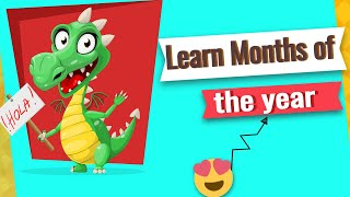 Months of the year song   Learn 12 Months of the Year   Nursery rhyme