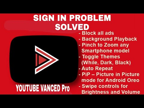 YouTube Vanced Sign In Problem Solved New Fix