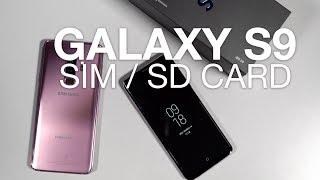 Inserting SIM, microSD Card in Galaxy S9 / S9+