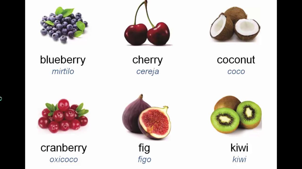 Preferência vocabulário de frutas em inglês - YouTube YL08